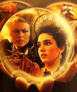 A detail from the cover of my copy of Labyrinth.