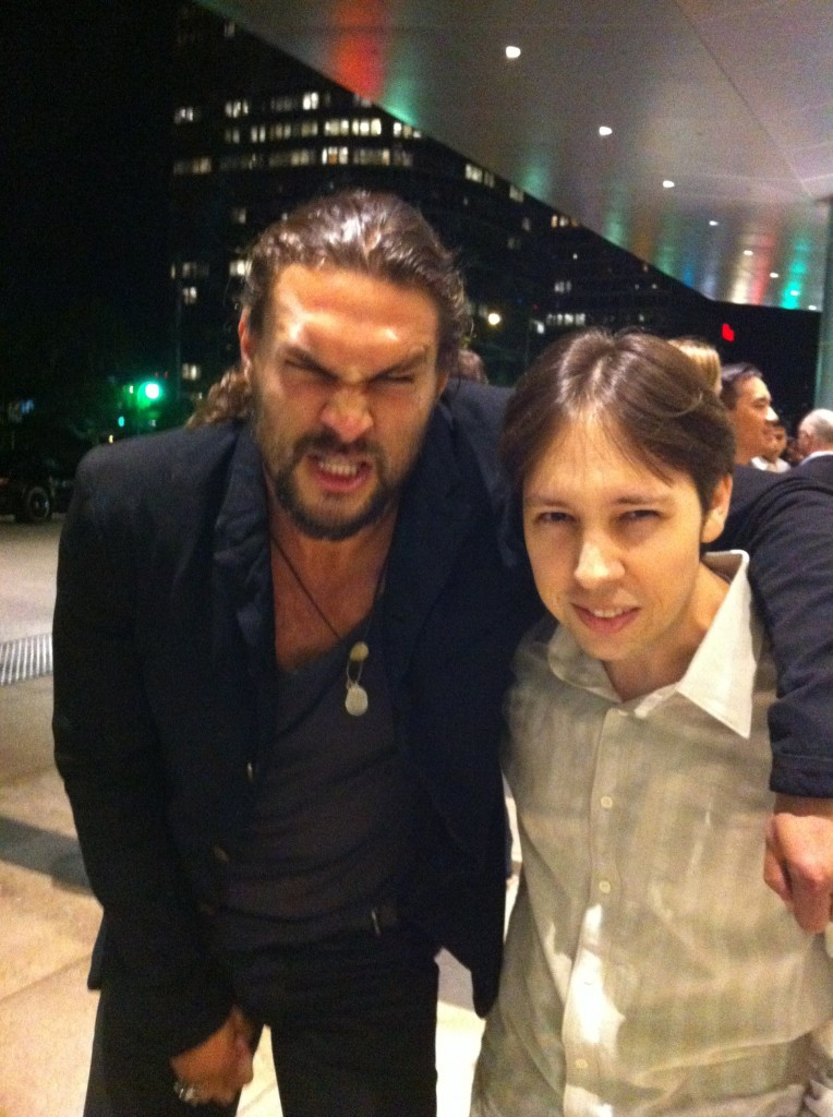 Me and Jason Momoa doing angry faces.
